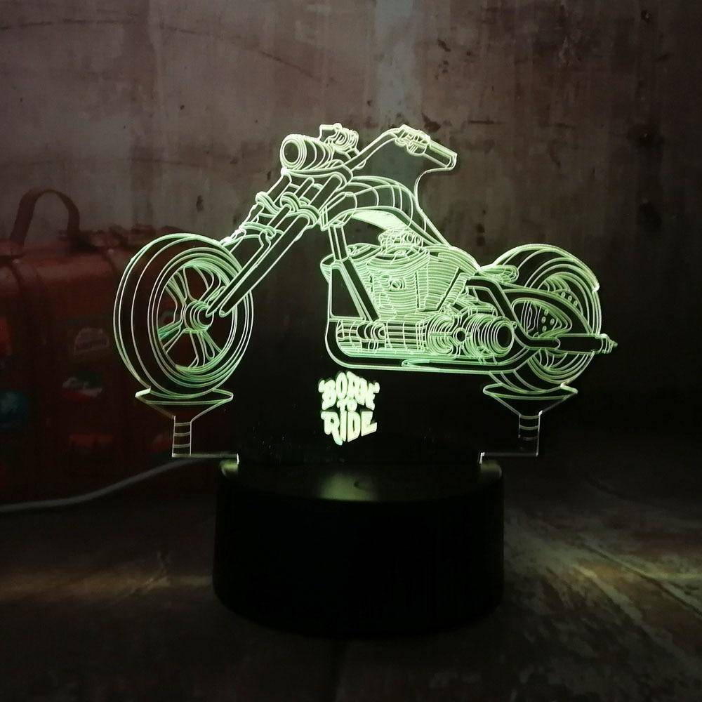 Born To Ride Motorcycle 3D LED Lamp LEDMiracles