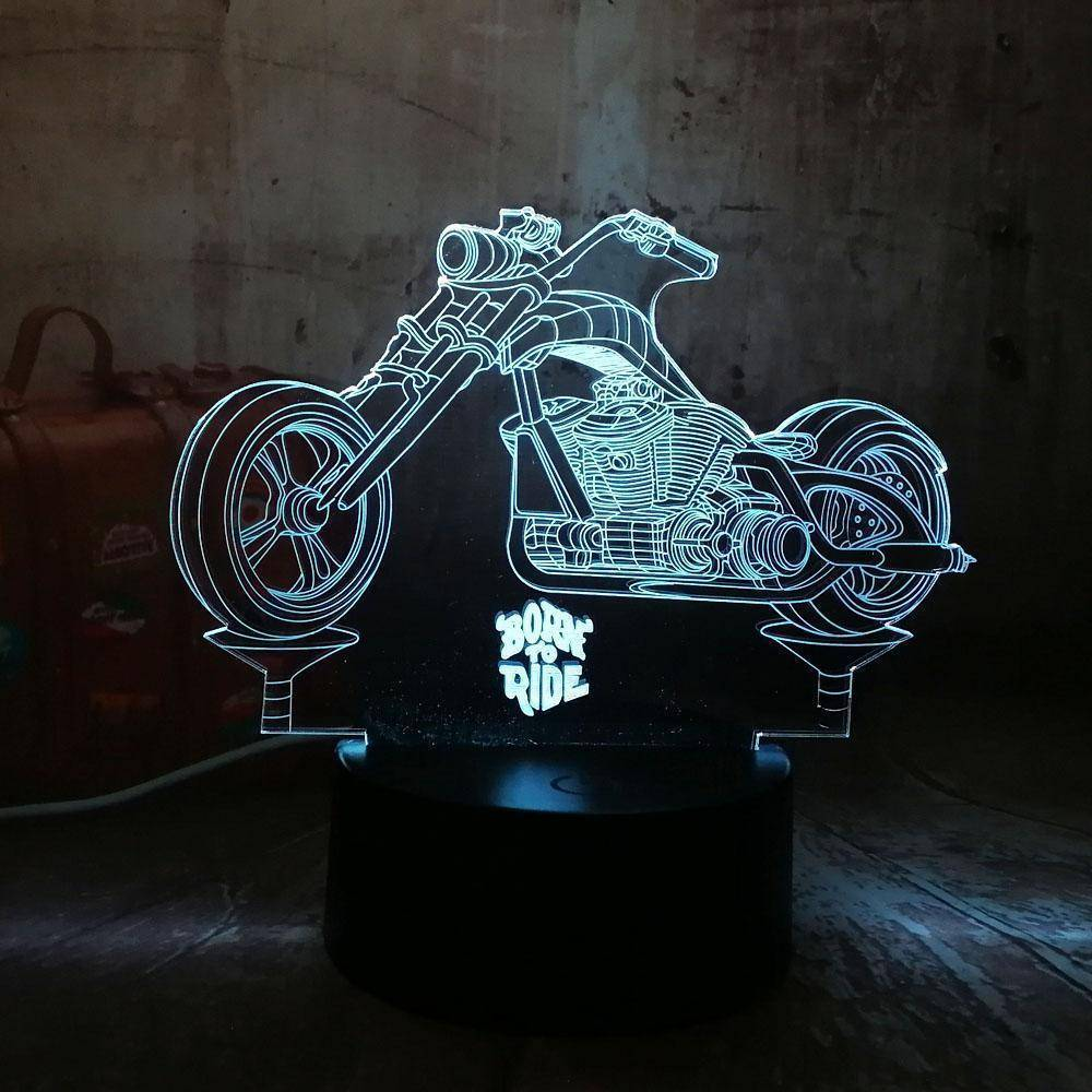 Born To Ride Motorcycle 3D LED Lamp