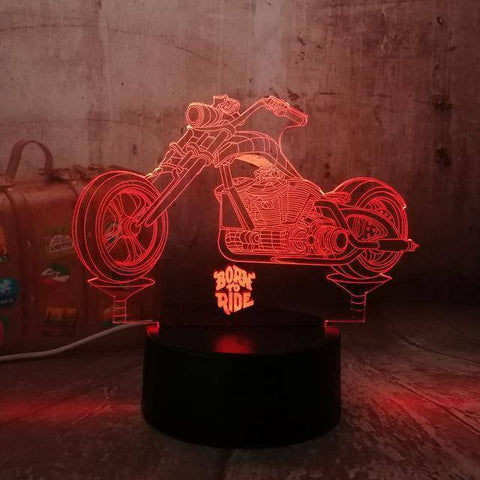 Born To Ride Motorcycle 3D LED Lamp LEDMiracles Default Title