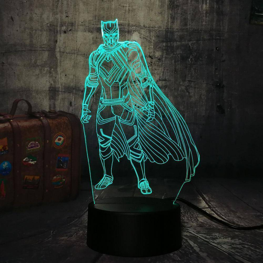Black Panther 3D LED Lamp LEDMiracles