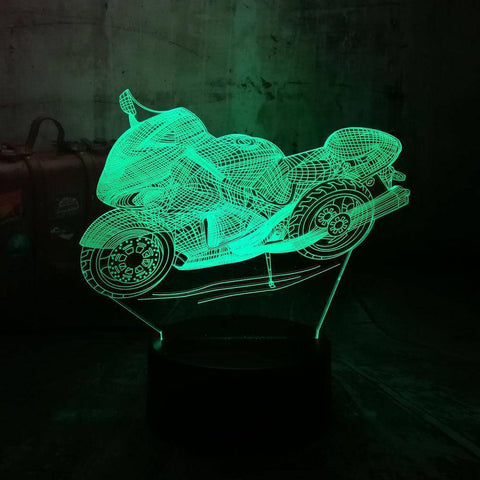 Art Decor Motorcycle 3D LED Lamp