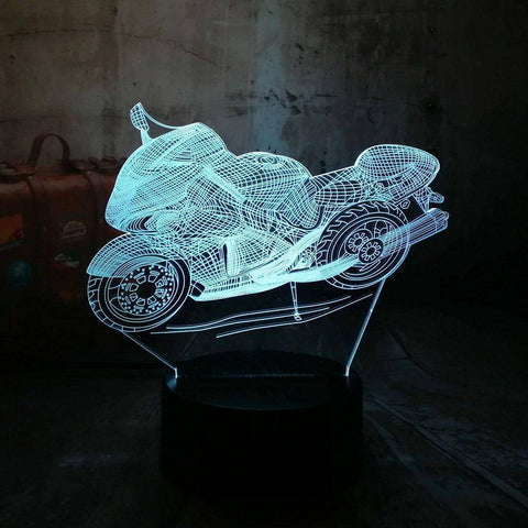 Art Decor Motorcycle 3D LED Lamp LEDMiracles