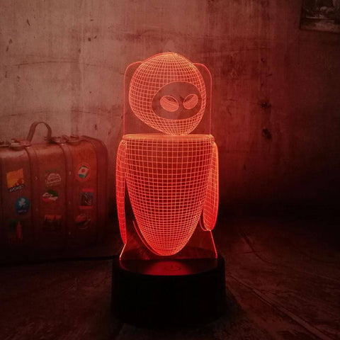 Wall-E 3D LED Lamp