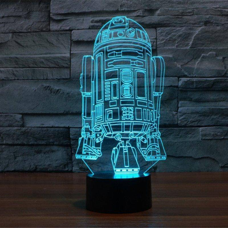 R2 D2 2 Star Wars 3d Led Lamp Ledmiracles