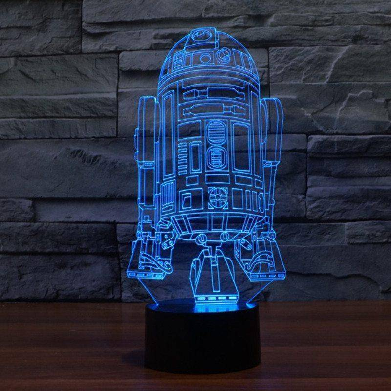 R2-D2 2 Star Wars 3D LED Lamp