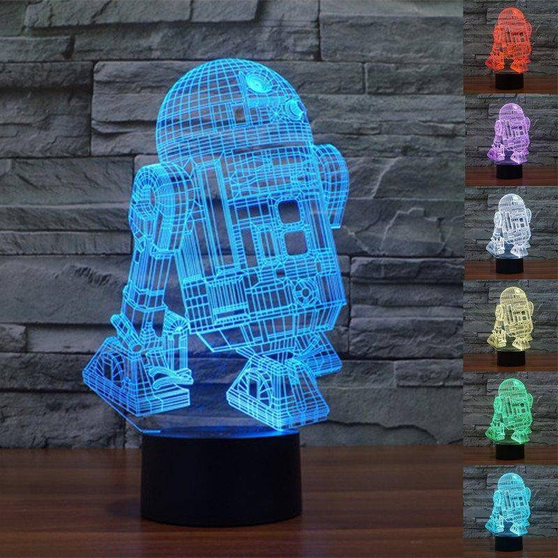 R2 D2 Star Wars 3d Led Lamp Ledmiracles
