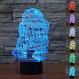 Image of R2-D2 Star Wars 3D LED Lamp