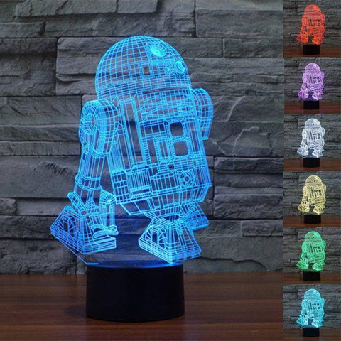 R2-D2 Star Wars 3D LED Lamp