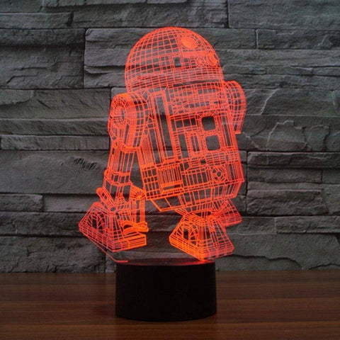 Image of R2-D2 Star Wars 3D LED Lamp LEDMiracles