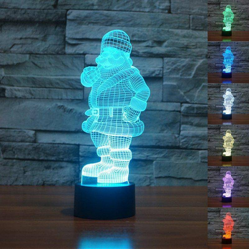 Santa Claus 3D LED Lamp LEDMiracles