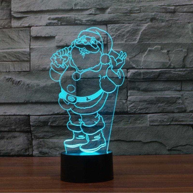 Santa Claus 3D LED Lamp