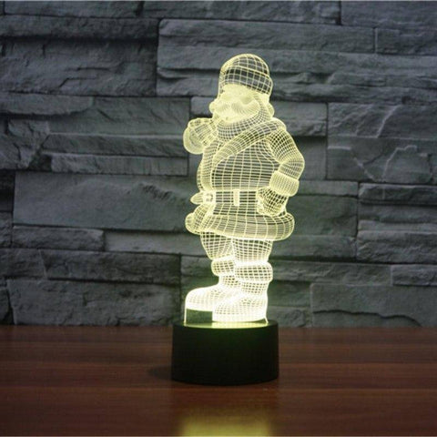 Image of Santa Claus 3D LED Lamp LEDMiracles