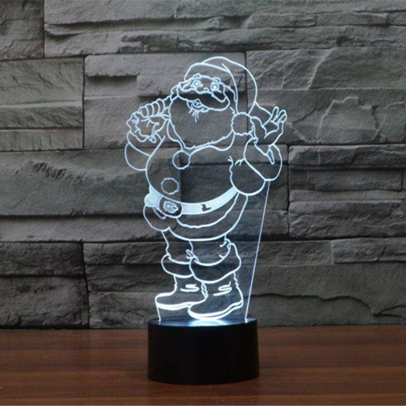 Santa Claus 3D LED Lamp LEDMiracles Santa Claus 1