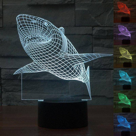 Shark 3D LED Lamp