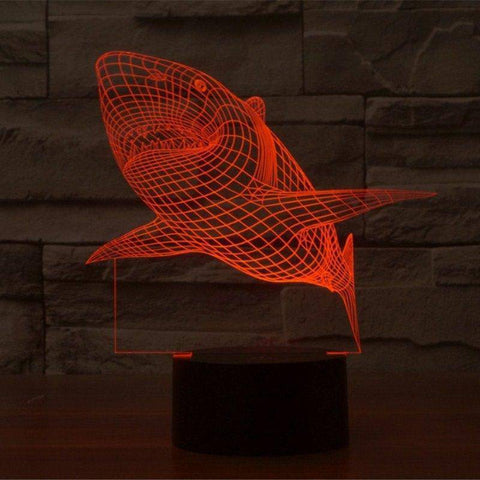 Shark 3D LED Lamp LEDMiracles