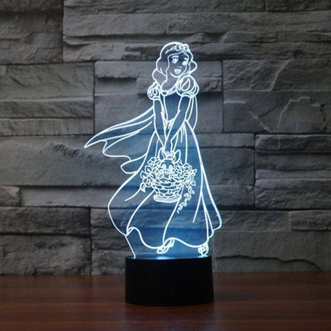 Snow White 3D LED Lamp