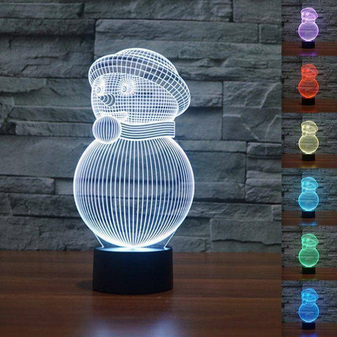 Snowman 3D LED Lamp LEDMiracles