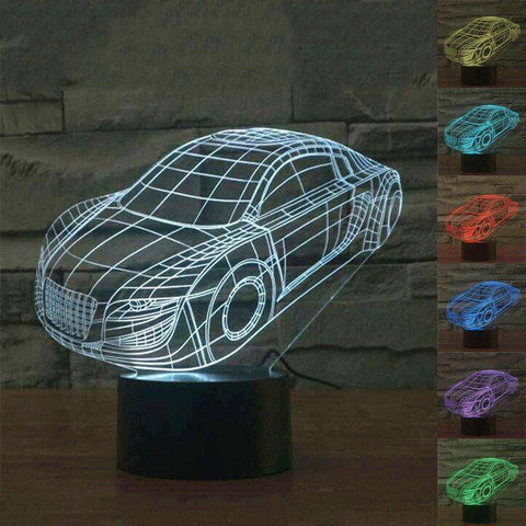 Sports Car 3D LED Lamp