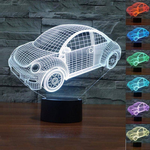 Sports Car 3D LED Lamp LEDMiracles
