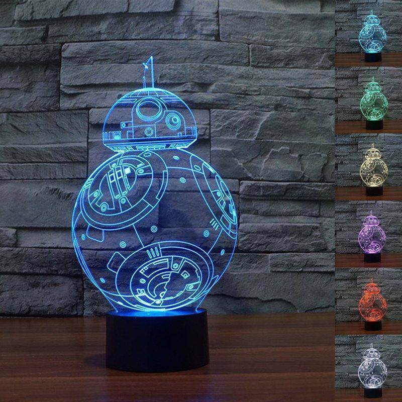 Star Wars Bb 8 3d Led Lamp Ledmiracles