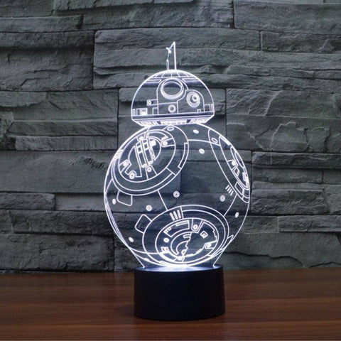 Image of Star Wars BB-8 3D LED Lamp LEDMiracles