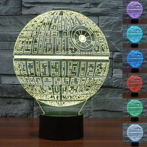 Image of Star Wars Death Star 3D LED Lamp LEDMiracles