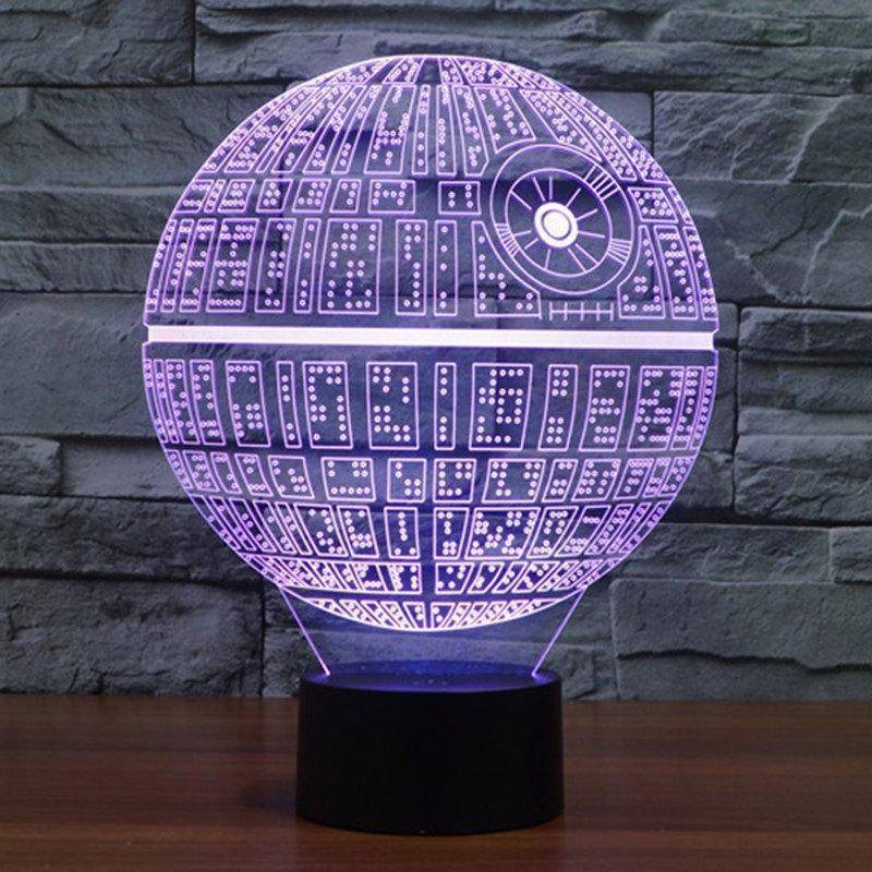 Star Wars Death Star 3D LED Lamp | LEDMiracles