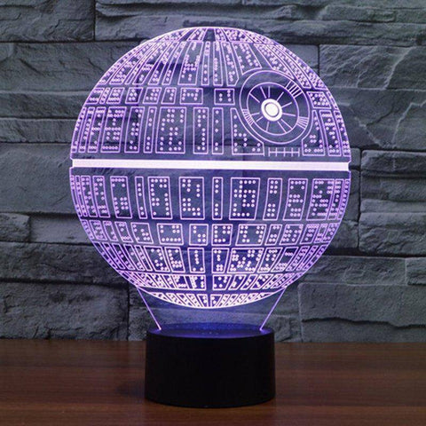 Star Wars Death Star 3D LED Lamp LEDMiracles