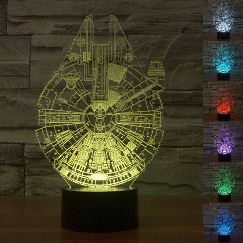 Star Wars Millennium Falcon 3D Miracle Lamp ...
