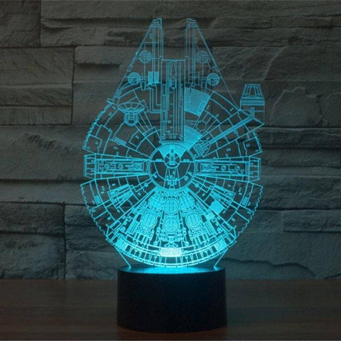 Image of Star Wars Millennium Falcon 3D Miracle Lamp LEDMiracles