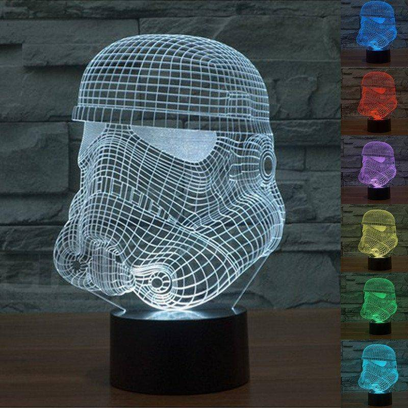 Star Wars Storm Trooper 3d Led Lamp Ledmiracles