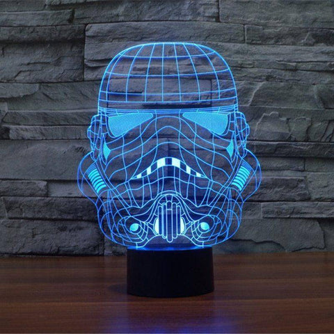 Image of Star Wars Storm Trooper 3D LED Lamp LEDMiracles