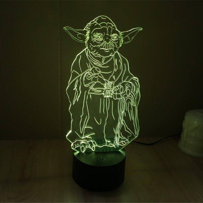 Star Wars Yoda 3D LED Lamp