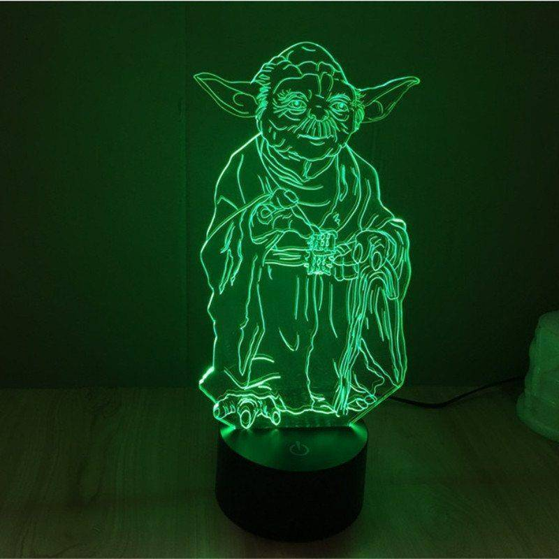 Star Wars Yoda 3d Led Lamp Ledmiracles