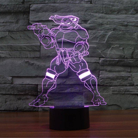 Teenage Mutant Ninja Turtles (TMNT) 3D LED Lamp