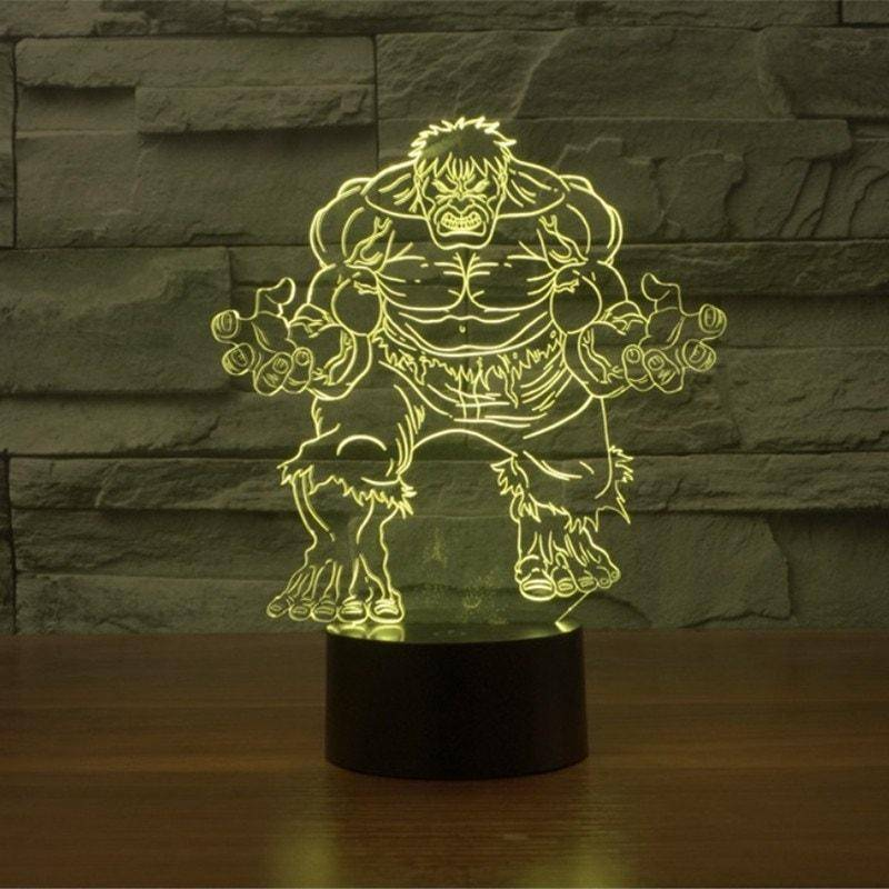 The Hulk 3D LED Lamp LEDMiracles