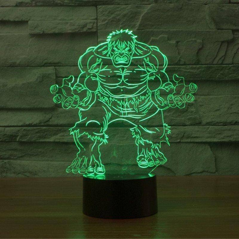 The Hulk 3D LED Lamp
