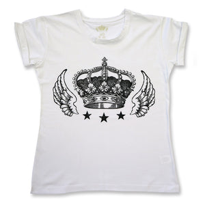 Retro Tee - Crown - White