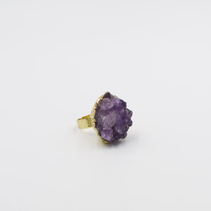 Queen Amethyst Love Ring