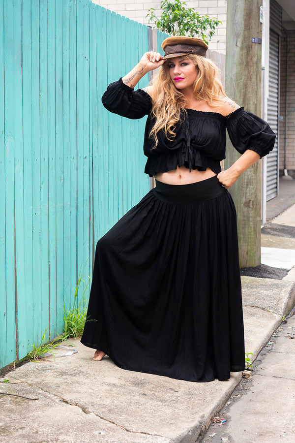 MumTum 2 Black Hearted B!tch Long Skirt