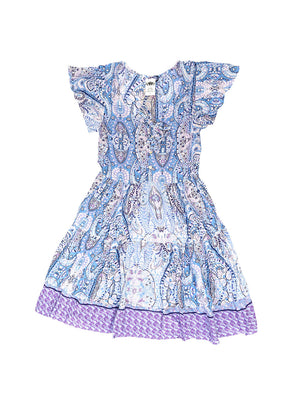 Saskia Dress - Paisley Purple