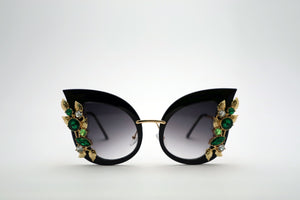 Queens Love - Excess Goddess Sunglasses - Black Grey