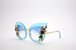 Queens Love - Excess Goddess Sunglasses - Blue Blue