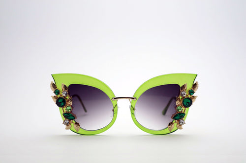 Queens Love - Excess Goddess Sunglasses - Green Green