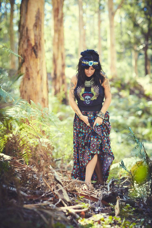 MumTum Multi Flower Long Skirt