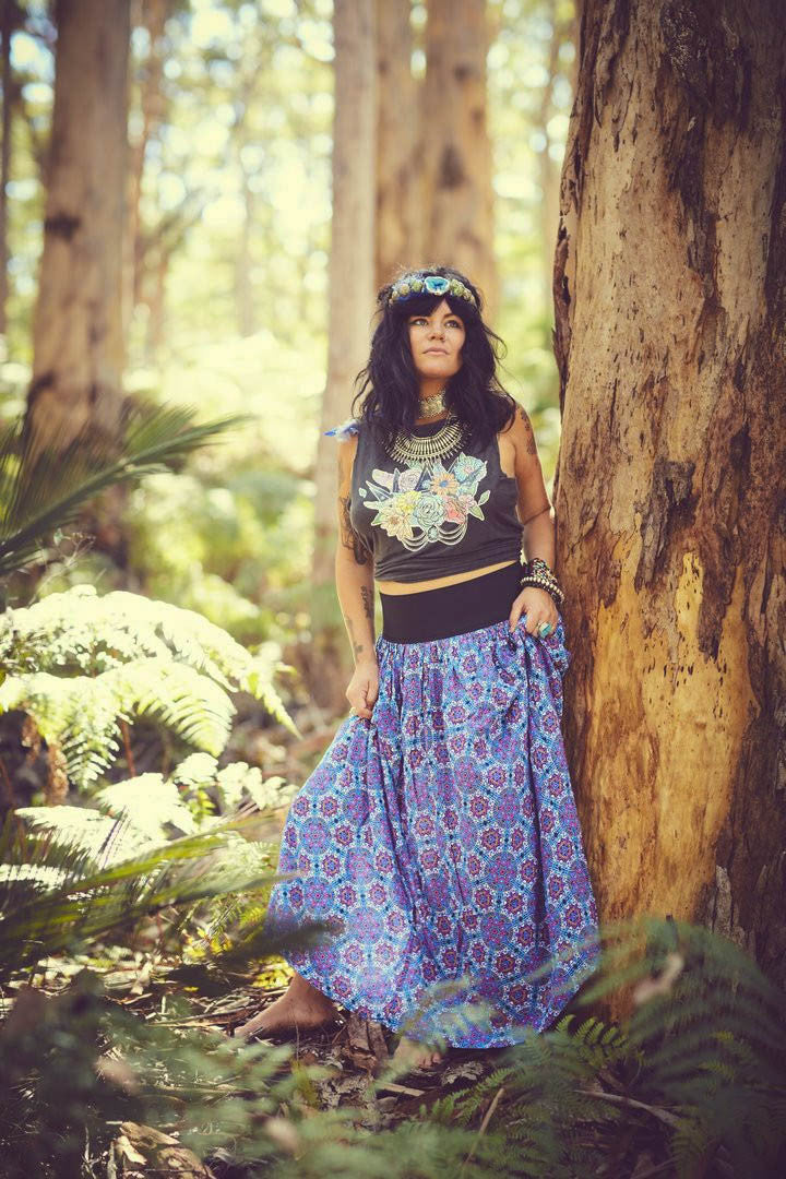 MumTum Multi Star Long Skirt