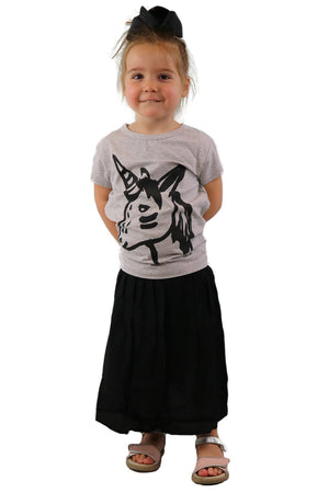 MINIMUM Black Hearted B!tch Kids Skirt