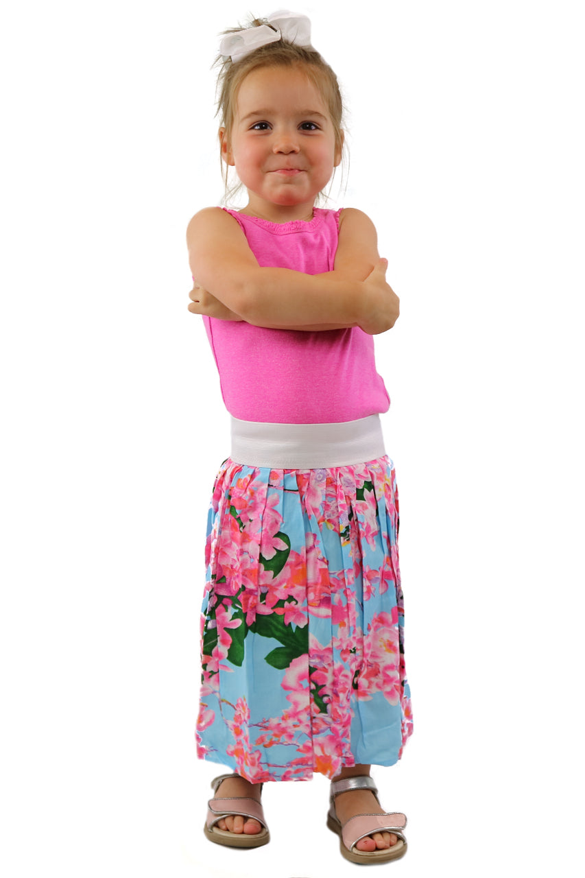 MINIMUM Blue Blossom Kids Skirt