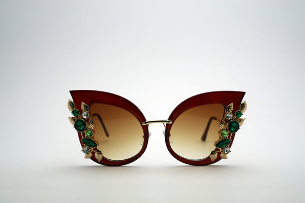 Queens Love - Excess Goddess Sunglasses - Brown Brown