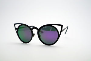 Queens Love - Pussy Power Sunglasses - Black Purple